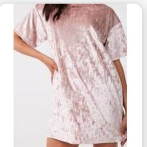 Forever 21 Faux Crushed Velvet Loose T Shirt Dress